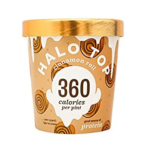 Halo Top, Cinnamon Roll Ice Cream, Pint (8 Count)