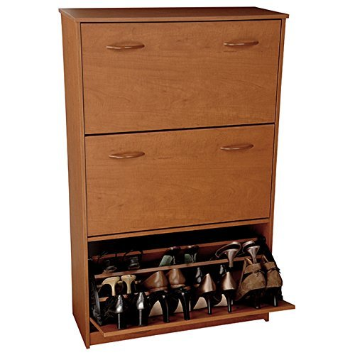Cabinet Shoe Finish Triple - Venture Horizon Triple Shoe Cabinet- Cherry