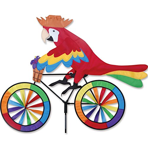 Bike spinner parrot wind sculptures spinners patio for Garden spinners by premier designs