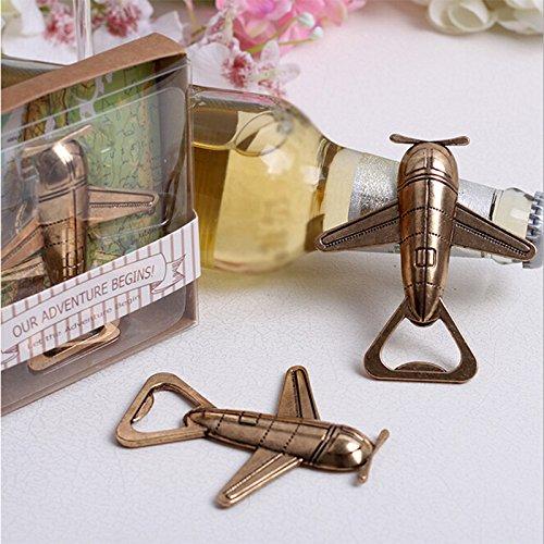 Golden Flamingo/Airplane Bottle Opener, Beer Openers, Cap Lifter, Wedding Gift Souvenirs Party Favors Alician