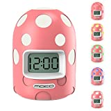 Digital Alarm Clock, MoKo Mini LCD Display Kids Clock Color Changing Night Light Travel Alarm Clocks Electronic Bedside Table Lamp with Snooze Backlight Function for Home Office - PINK