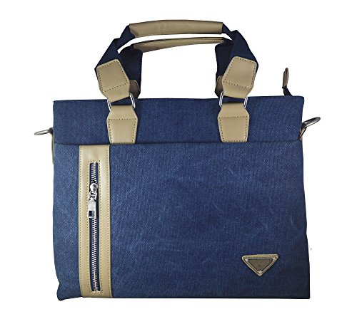 Skoot Office ipad tablet bag carry case - waxed canvas Eco -friendly Material (Blue)