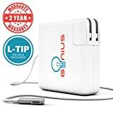 """Genius MacBook Pro / Air Charger 85W Power Adapter With MagSafe 1 (L) Style Connector - Works With 45W 60W & 85W MacBooks - / Pro-11/13/15/17"""" - Compatible With Apple Macbooks (Mid 2012) & Before"""