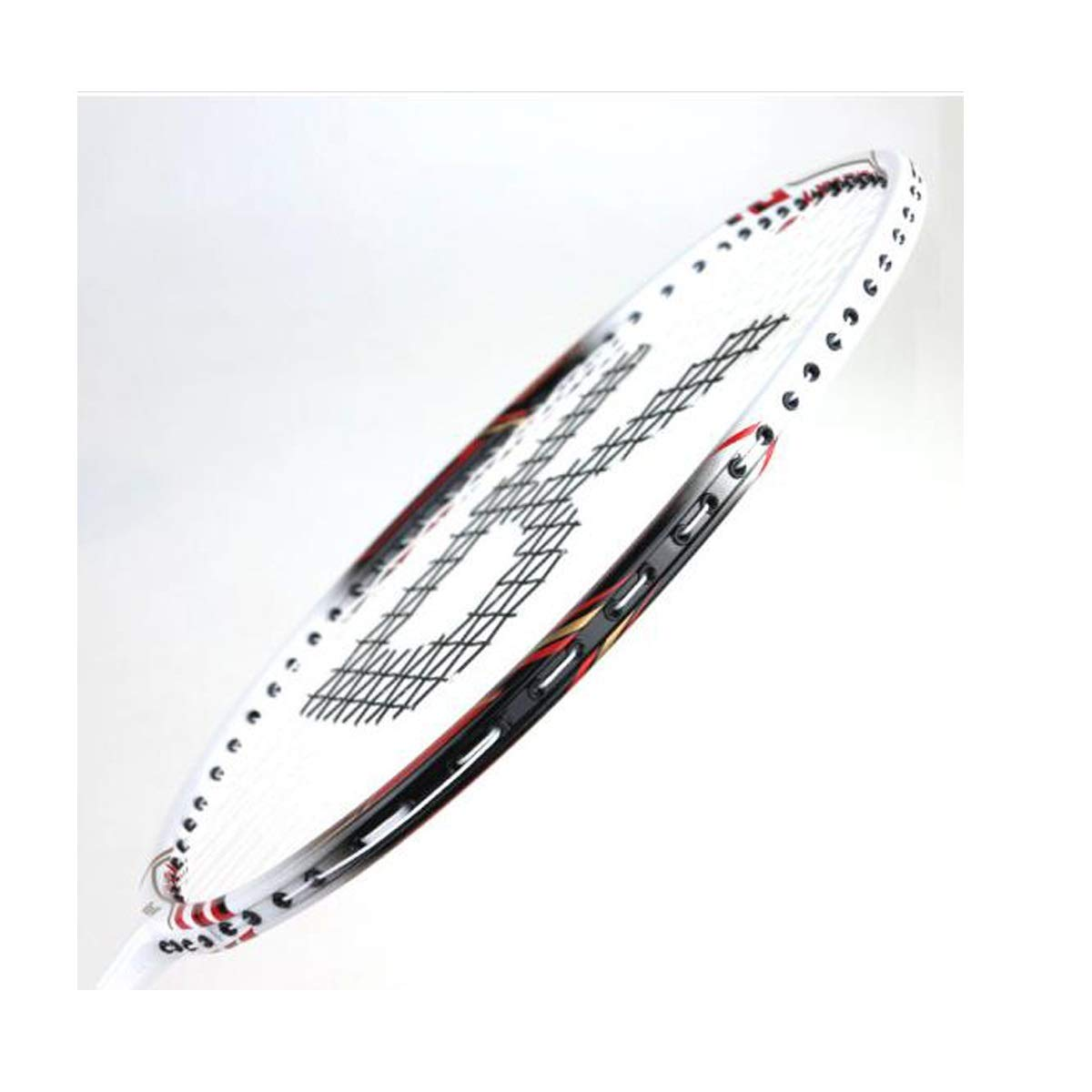 Tongboshi Full Carbon Badminton Racket, On The Beat, 2 Double Shot Set Ultra Light Beginner, Competition, Training, White, Yellow, White + Yellow (has Threaded) Badminton Racket, (Color : Yellow) by Tongboshi (Image #5)