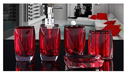 Bellabrunnen 5-teiliges Design Badset Acryl Kristall Look ...