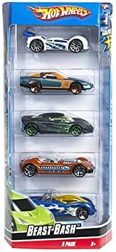Hot Wheels 5 Car Gift Pack - Beast Bash by: Amazon.es: Juguetes y ...