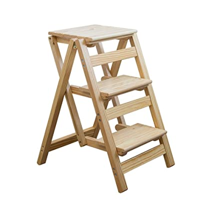 Fabulous Amazon Com Hai Yan Kitchen Step Stools Solid Wood 3 Step Gmtry Best Dining Table And Chair Ideas Images Gmtryco