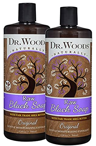 Dr. Woods Raw African Black Liquid Soap with Organic Shea Butter, 32 Ounce (Pack of 2) - African Shea Butter Shampoo