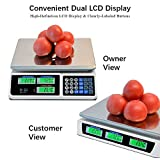 Cchainway 88LB Digital Price Scale Electronic Price Computing Scale LCD Digital Commercial Food Meat Weight Scale, Upgraded Version