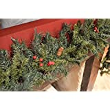 200cm Christmas Garland with Mixed Berries