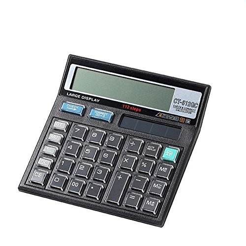 Office  Desktop  Standard Function  Calculator With 12 Digit Large Display Solar And Built In Battery Dual Power