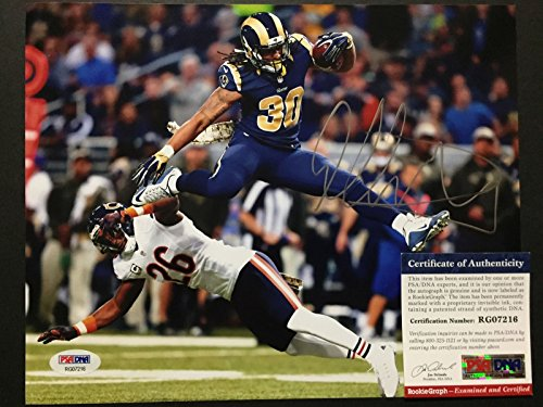 Autographed/Signed Todd Gurley Los Angeles Rams 8x10 Football Photo PSA/DNA COA Auto (8x10 Photo Autographed Coa Auto)
