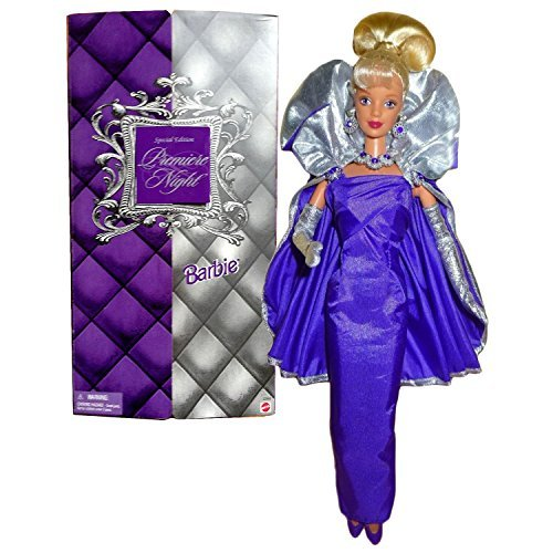 Barbie Mattel Year 1999 Home Shopping Network HSN Special Edition Series 12 Inch Doll - Premiere Night with Lilac Gown, Gloves, Shoes, Hairbrush, Necklace, Earrings and Doll Stand]()