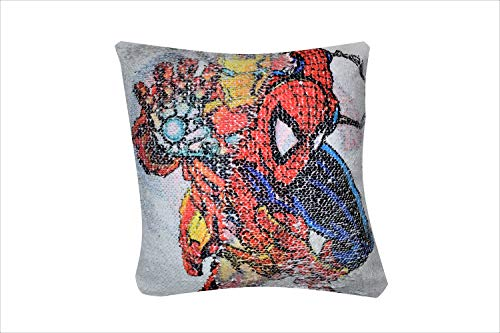 "Razteca Goods Comic Book Sequin Pillow Case | Superhero Toy Pillowcase Cover | | Plush Pillow Cover Kids All Ages | 16"" x 16"""