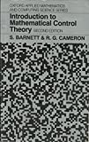 img - for Introduction to Mathematical Control Theory (Oxford Applied Mathematics and Computing Science Series) book / textbook / text book