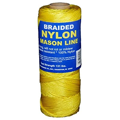 T.W Evans Cordage 12-503 Number-1 Braided Nylon Mason Line, 250-Feet, Yellow: Home Improvement [5Bkhe0803780]