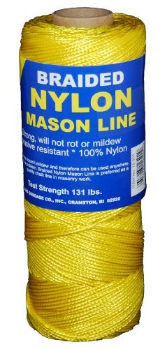 (T.W Evans Cordage 12-503 Number-1 Braided Nylon Mason Line, 250-Feet, Yellow)