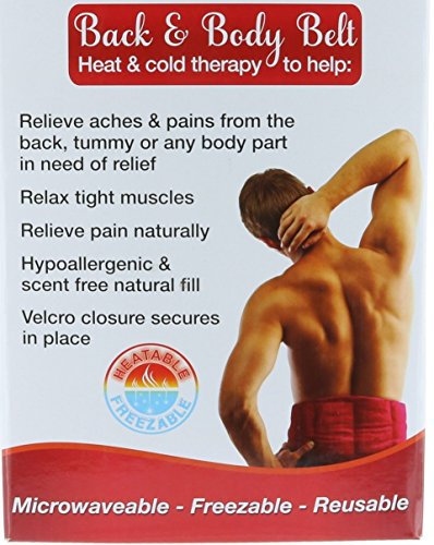 DreamTime Healing Heat & Cold Therapy Back & Body Belt Microwaveable - Freezable