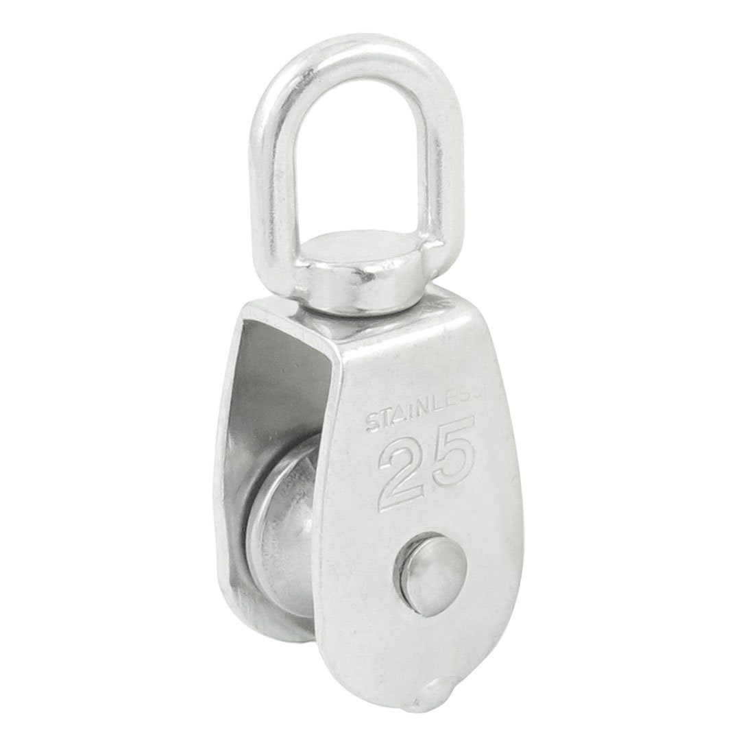 uxcell 20mm Diameter Stainless Steel Single Sheave Fixed Eye Rope Pulley