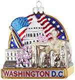 "Kurt Adler Kurt S. Adler 3.7"" Washington DC Cityscape Glass Ornament"