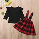 Toddler Baby Girl Infant Plain T Shirts Plaid