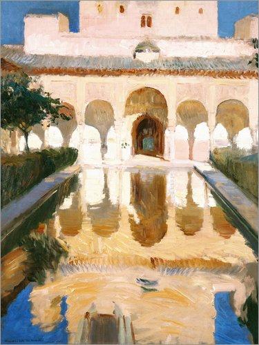 Posterlounge Lienzo 70 x 90 cm Ambassador Hall in Alhambra de Joaquin Sorolla y Bastida - Cuadro Terminado, Cuadro sobre Bastidor, lamina terminada sobre Lienzo autentico, impresion en Lienzo