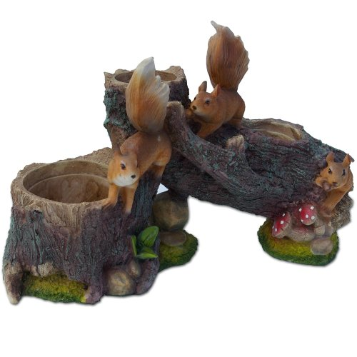 Tree Squirrel Flower Pot