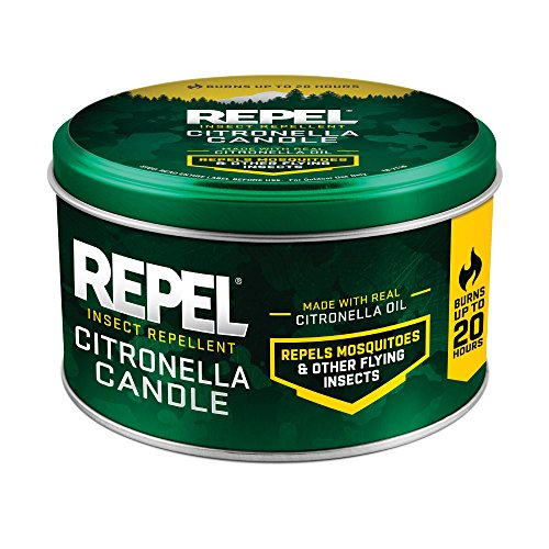 Repel Insect Repellent Citronella Candle, Silver, 10-Ounce