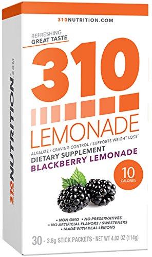 310 Lemonade Blackberry - Slimming Lemonade Helps Restore PH Balance to Your Body Sugar-Free and Caffeine-Free Water Enhancer Beverage Includes 30 Individual Servings
