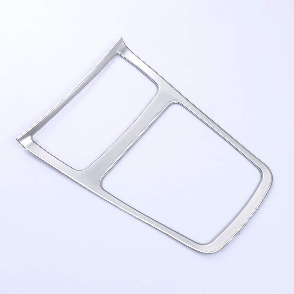 Contenitore portaoggetti interno in plastica cromata ABS Struttura posacenere in legno chiaro per CLA GLA Classe A W117 C117 W176 2013-2018 fibra di carbonio