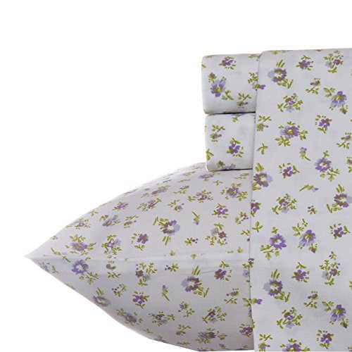 (Laura Ashley Petite Fleur Sheet Set Queen Lavender)
