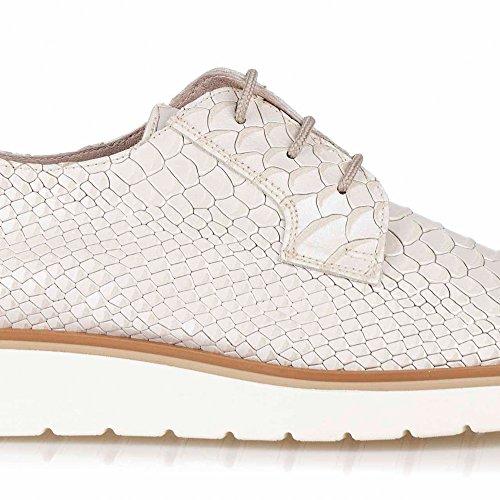 Zapatos Oxford Blancos para Mujer. Piel