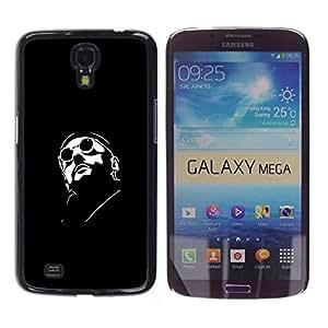 Caucho caso de Shell duro de la cubierta de accesorios de protección BY RAYDREAMMM - Samsung Galaxy Mega 6.3 - Leon Profesional Killer