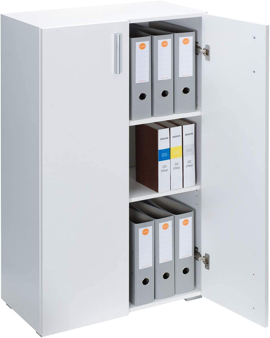 Deuba Mueble Vela | Armario | con 2 Puertas | 3 estantes | versatil | Color Blanco