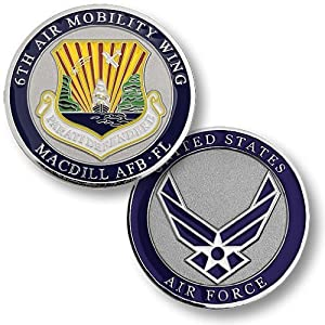 6th Air Mobility Wing, MacDill Air Force Base, FL Challenge Coin