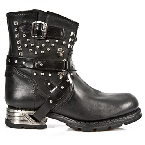 New Rock Boots M.mr021-c2 Urban Biker Hardrock Unisex Stiefelette Schwarz