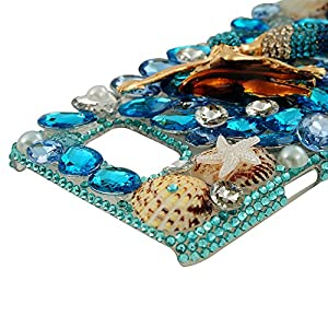 Note 5 Case, Galaxy Note 5 Case - Mavis's Diary 3D Handmade Bling Crystal Luxury Full Diamond Case Series Shiny Sparkling Colorful Diamonds Gems Clear PC Cover for Samsung Galaxy Note 5 & Clean Cloth from Mavis's Diary
