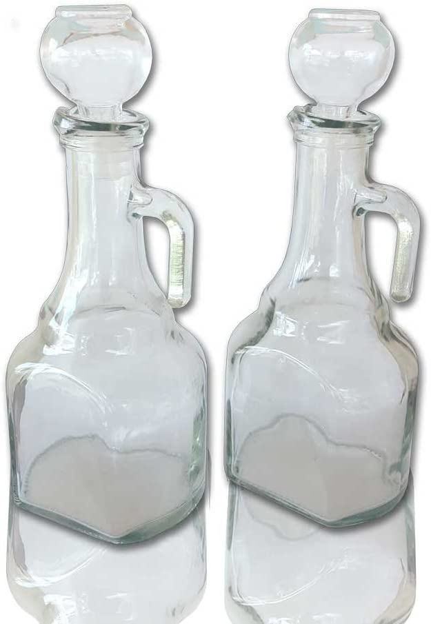 Amazon Com Oil And Vinegar Glass Cruets Set Of Two Kitchen Dining