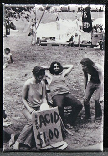 Puerto Rico Usa Rum (Acid / LSD $1 Vintage Woodstock Photo Refrigerator Magnet. Great Moment In History!)