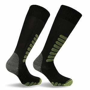 Eurosocks Ski Supreme Socks, Charcoal, X-Sock Size:10-13/Shoe Size: 6-12