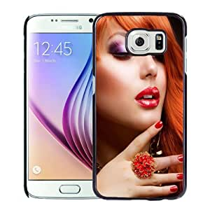 Popular And Durable Designed Case For Samsung Galaxy S6 With Modern Girl Red Hair Phone Case