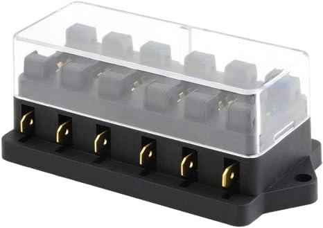 Universal 12V 6 Way Fuse Box Block Fuse Holder Box, Car Vehicle Circuit Automotive  Blade Car Fuse Accessory Tool: Amazon.co.uk: Sports & OutdoorsAmazon.co.uk