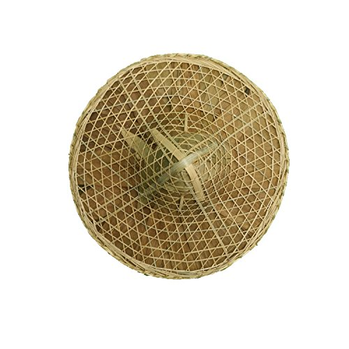 Sunnyhill Chinese Oriental Bamboo Straw Cone Garden Fishing Hat Adult Rice Hat