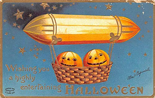 Halloween Post Card Old Vintage Antique Artist Ellen Clapsaddle 1909 -