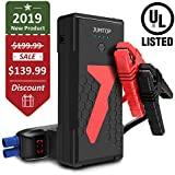 JUMTOP 3000A Peak 22000mAh Portable Car Jump Starter-UL Certified (10L Gas/8L Diesel Engine) Auto Battery Booster and Power Bank and Phone Charger with Dual USB Smart Charging Port and LED Flashlight
