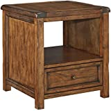 Signature Design by Ashley T830-2 Square End Table, Medium Brown