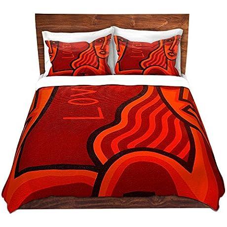 DiaNoche Designs John Nolan Lovers Brushed Twill Home Decor Bedding Cover 8 King Duvet Sham Set