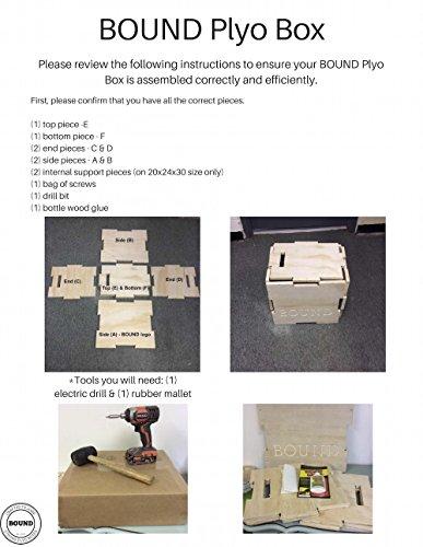 (16/18/20) Bound Plyo Box 3-in-1 Wood Puzzle Plyometric Box - CrossFit Training, MMA, or Plyometric Agility - Jump Box, Plyobox, Plyo Box, Plyometric Box, Plyometrics Box by BOUND Plyo Box (Image #4)