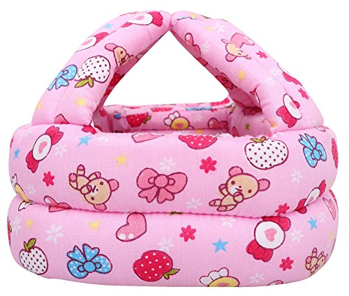 Simplicity Baby Infant Toddler No Bumps Safety Helmet Head Cushion, Pink Candy - Baby Safety Helmet