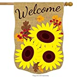 Briarwood Lane Fall Sunflowers Burlap House Flag Floral Autumn 28″ x 40″ Review
